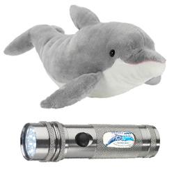 Delphin Plüschtier und Taschenlampe zu Gewinnen