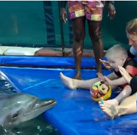 Timo's successfully Dolphintherapy
